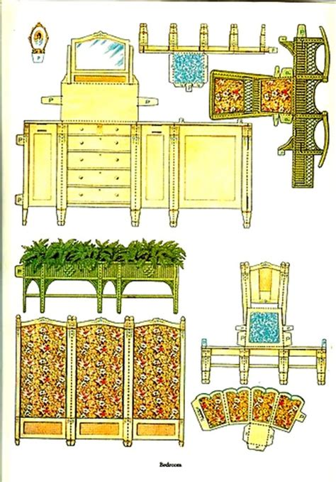 How To Make Paper Dollhouse Furniture - oltre 1000 immagini su printables su