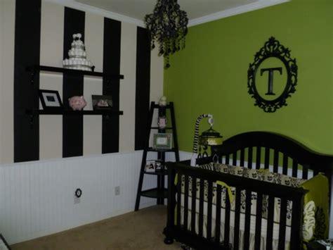 girls nursery black white jalapeno green design dazzle