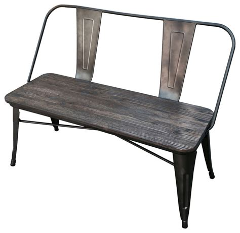 industrial benches industrial style double bench gunmetal industrial