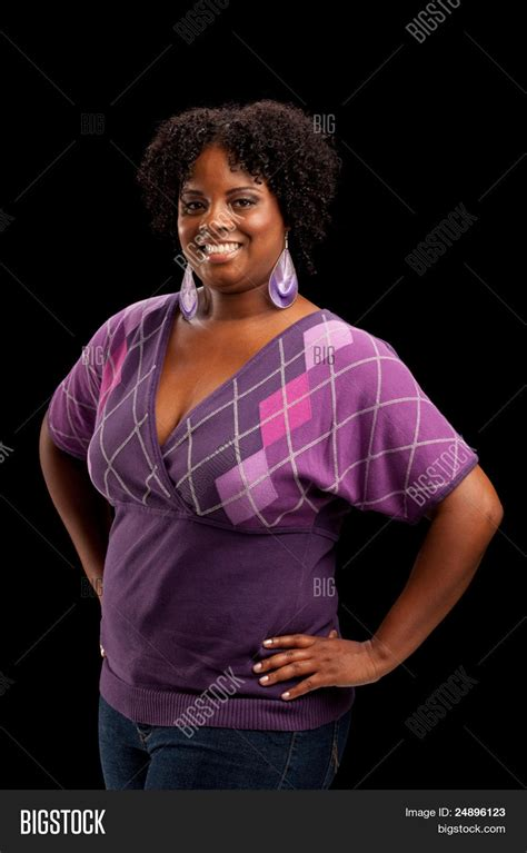 plus size african american ladie with one inch hairstyle beautiful african american plus image photo bigstock