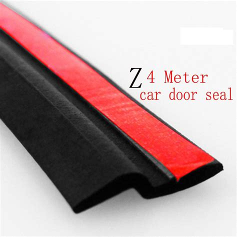 Car Door Insulation by 4meter Z Type Adhesive Car Rubber Seal Sound Insulation