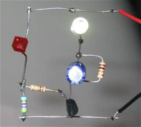 single transistor led driver led flasher with one transistor