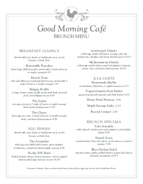 breakfast buffet menu buffet breakfast menu breakfast menus