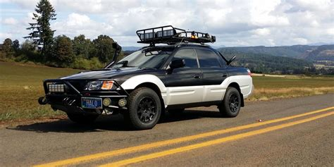 subaru baja lifted subaru justy
