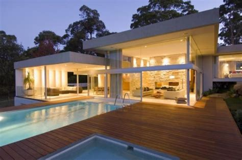 View Of Houses by Modern Luxury Retreat In Sydney Australia Suburb