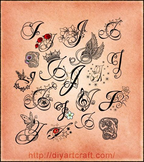 words from these letters poster 19 maiuscole j tattoos 1731