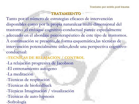 tratamiento del trastorno de pnico desde la perspectiva trastorno de estr 233 s post trauma