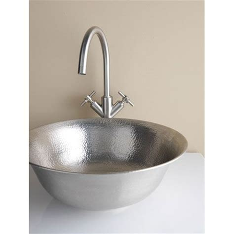 pewter bathroom sinks hammered pewter 16 inch above counter vessel sink