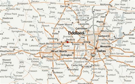bedford texas map bedford tx united states pictures citiestips