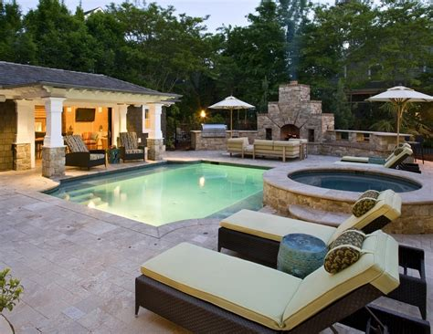 outdoor kitchen designs with pool backyard pool designs ideas to your backyard homestylediary