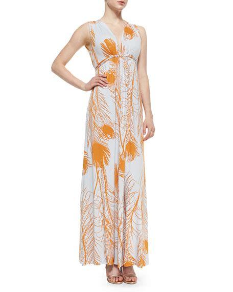Nm Kaftan Gold pally quill print caftan dress neiman