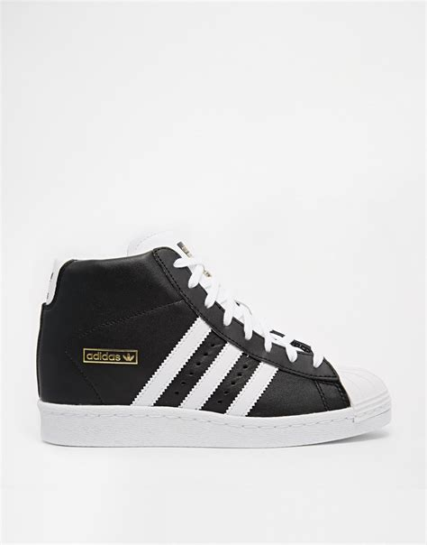 adidas originals superstar concealed wedge black high top