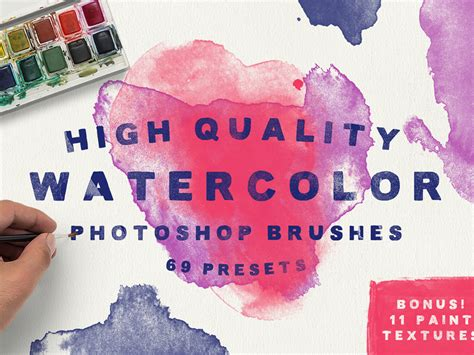 tutorial watercolor brush photoshop 69 watercolor photoshop brushes high quality brushes for