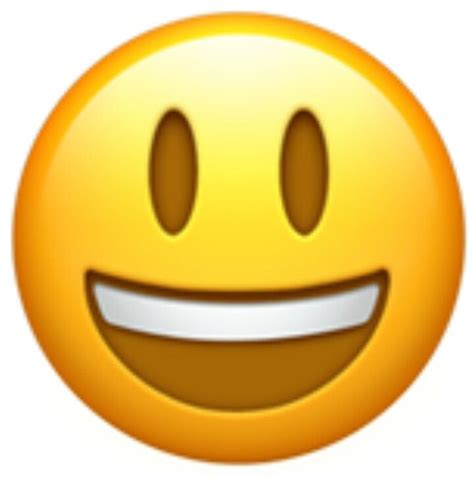 emoji face a classic smiley face emoji with an open mouth showing