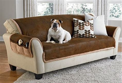 Pet Friendly Leather Sofa by Sure Fit Slipcovers Is Ruff Pet Proof Your Decor