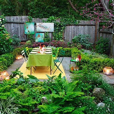 decorating a backyard ideas for garden decorations sunset
