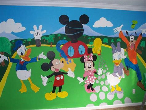 Mickey Mouse Clubhouse Room by Painted Mickey Mouse Clubhouse Wall Mural Kid S