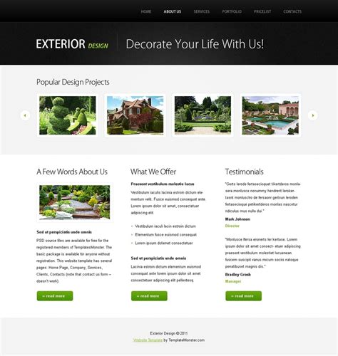 free templates with slider free website template w jquery slideshow design