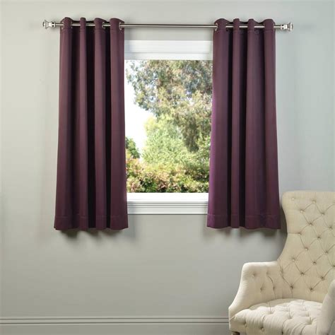 Purple Blackout Curtains Exclusive Fabrics Furnishings Aubergine Purple Grommet Blackout Curtain 50 In W X 63 In L