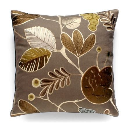 Luxury Luxe Pillows by Luxe Bronze Silk Leaf Pillow More Luxury