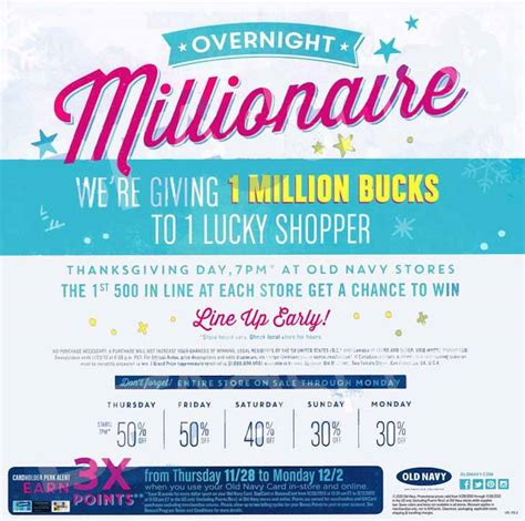Million Dollar Giveaway Old Navy - old navy black friday 2013 ad find the best old navy black friday deals and sales