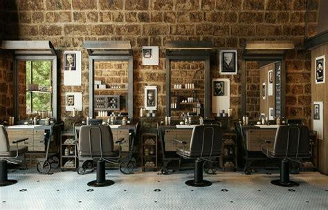 interior barbershop retro barber interior google search barber design