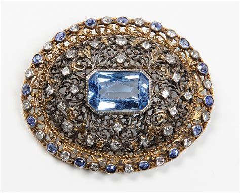 spinello mobili spilla con grande spinello azzurro sintetico jewels