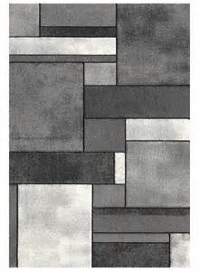 tapis de salon brillance geometrique gris de la collection