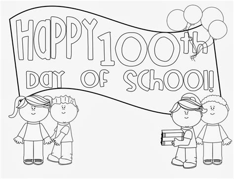 100th Day Of School Coloring Pages Day Of School Coloring Page