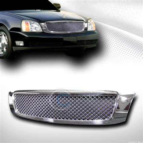 chrome luxury mesh front bumper grill grille 2000 2005 cadillac ebay