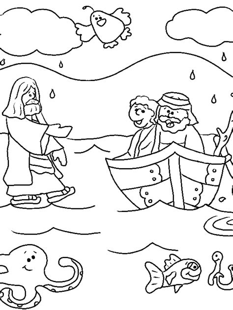 coloring pages for jesus walking on water jesus walks on water coloring page coloring pages