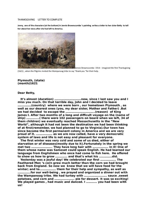 Sle Appeal Letter For Kindergarten The Thanksgiving Letter 100 Images Find Color The Letters In The Words Free Thanksgiving 10