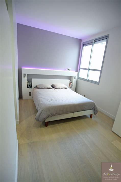 chambre parentale sobre et 233 l 233 gante avec t 234 te de lit