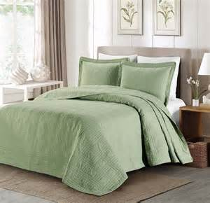 green coverlets new queen cal king oversized bedspread coverlet quilt 3 pc