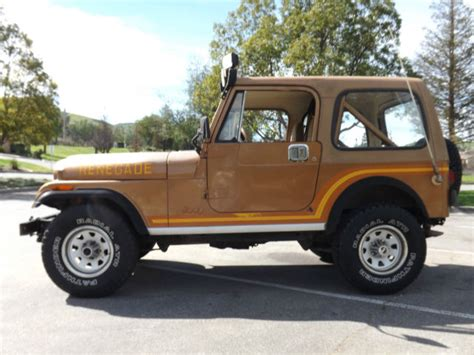 1986 Jeep Renegade For Sale 1986 Jeep Cj7 Renegade 4x4 Arizona Barn Find No Reserve