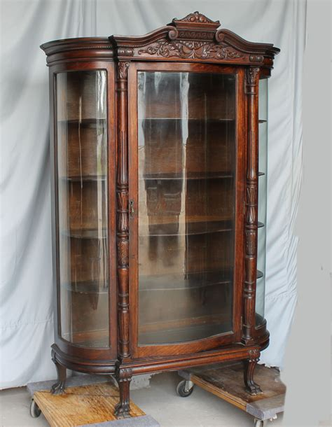 oak curio cabinets with curved glass bargain john s antiques 187 blog archive oak china curio