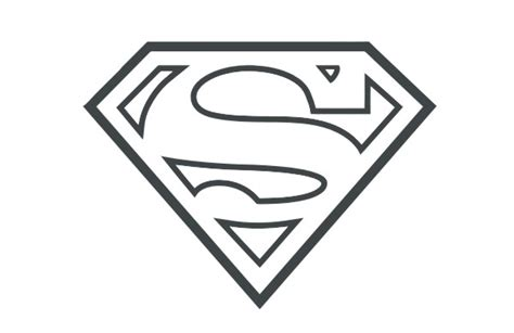 superman logo tattoo black and white black and white superman logo clipart best