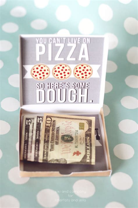 printable pizza gift cards graduation pizza box money card kiki company