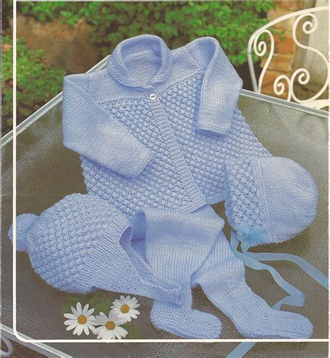 baby boy knitting patterns vintage knitting baby boy pram set knitting pattern pdf