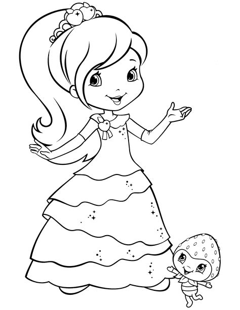 strawberry shortcake coloring pages princess strawberry shortcake coloring page strawberry shortcake