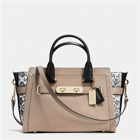 Coach Emboss coach swagger in colorblock embossed leather in