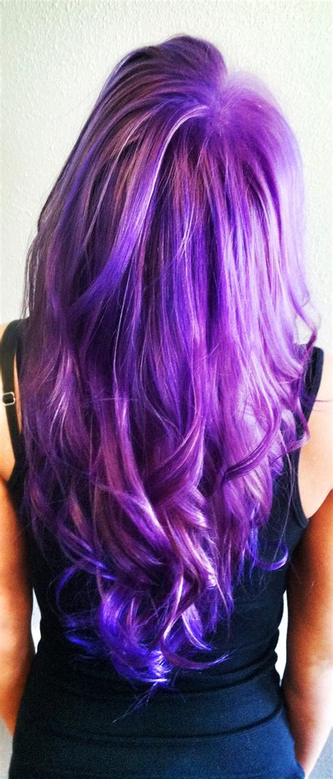 hair from behind lavender to purple reverse ombr 233 pravana hair products