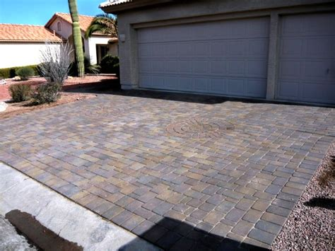 custom driveway ideas centurion stone  arizona