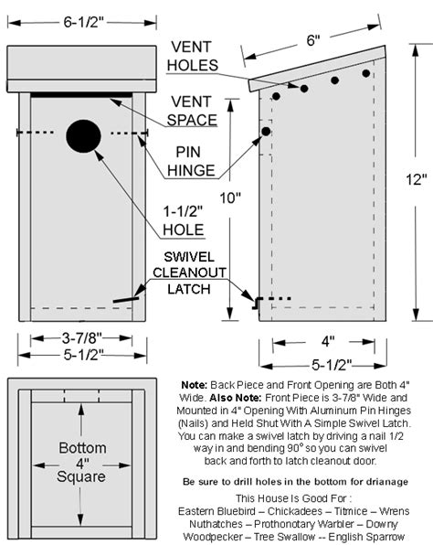 Bluebird House Pattern | pdf diy simple bluebird house plans download simple wood