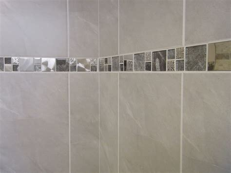 bathroom tile borders 10 30m2 travertine effect grey ceramic bathroom wall tile