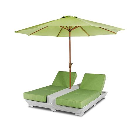 Patio Umbrella And Chairs Gemini Two Lounge Chairs W Built In Base And Umbrella