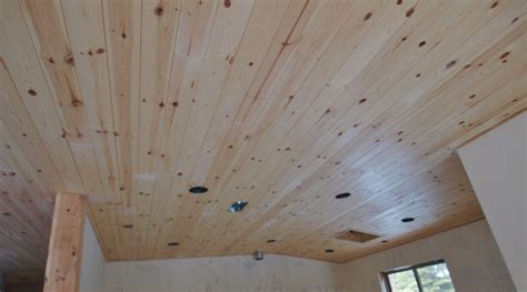 Pine Ceiling Boards Of A Whole Building One Home