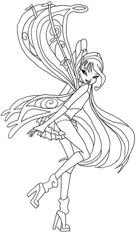 winx club doodle coloring musa winx club musa believix coloring pages sketch coloring page