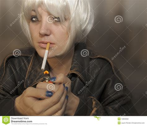woman  cigarette royalty  stock  image