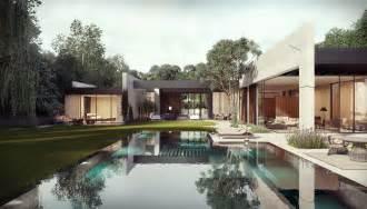 dise o de casa dise 241 o de casa en forma de l con piscina dise 241 o de casas